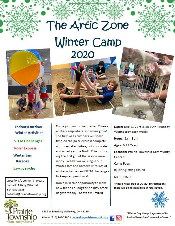 2020 Winter Camp Flyer 9.4.20